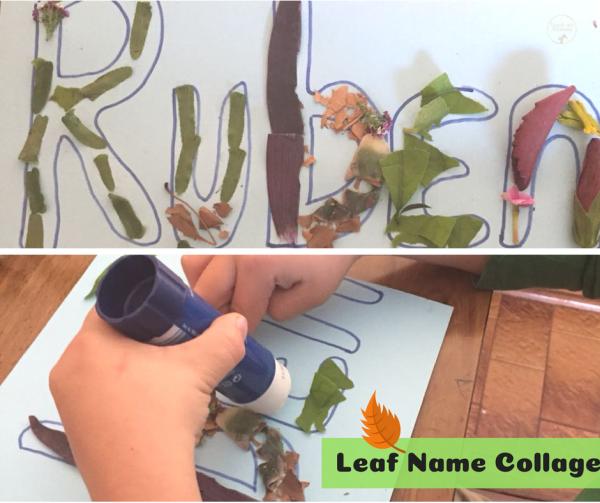 Leaf name collage