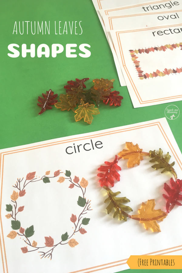 autumn leaf shapes pin