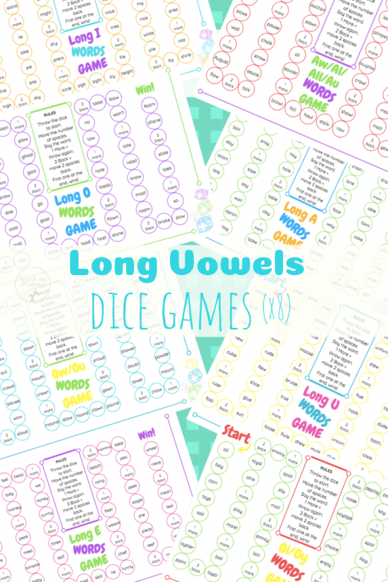 Long Vowels dice games