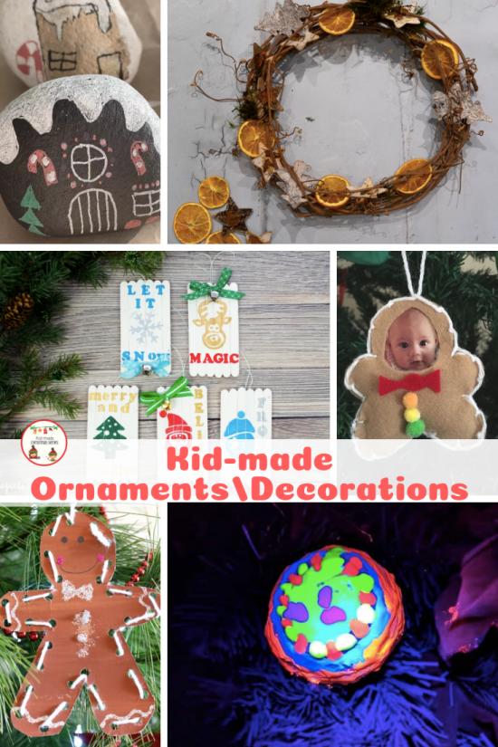 Kid-made ornaments pin