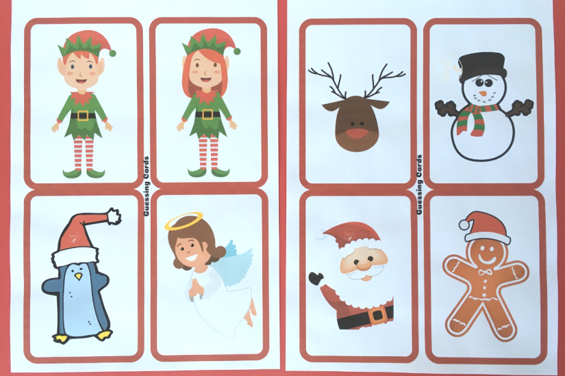 photograph regarding Guess Who Cards Printable named Xmas Guessing Video game and Present Hack - Practice Me Mommy