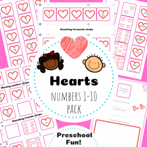 Hearts Numbers TpT